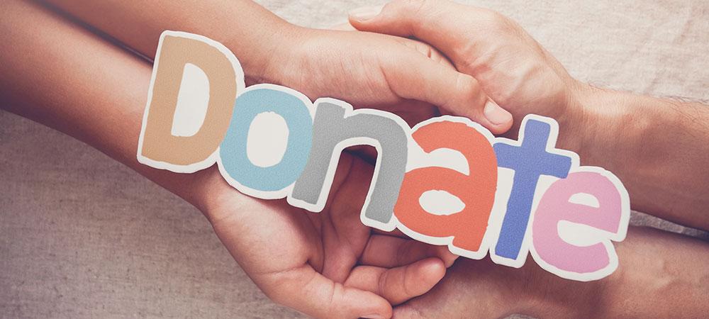 Donate paper design concept